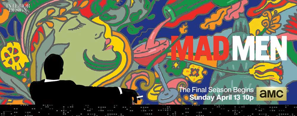 Poster della serie Mad Man disegnato da Milton Glaser