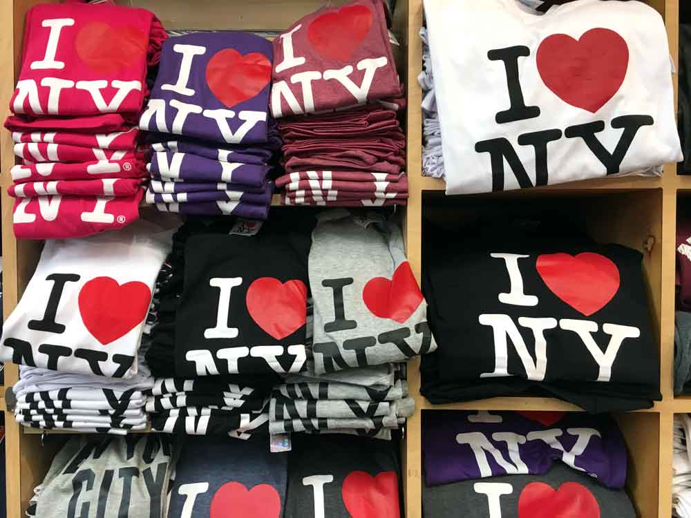 """T-shirt con il logo """"I Love NY"""" di Gasler"""